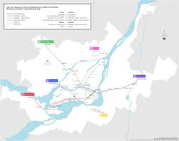 Montreal Metro Map Amt Commuter Trains In Montreal Tourbytransit