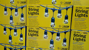 Solar Led Patio String Lights Costco Patio Lights Home Outdoor Decoration