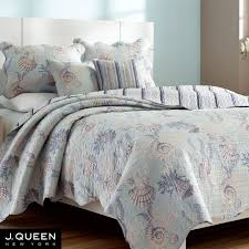 Home Goods Bedspreads Pacifica Pale Blue Coastal Coverlet Set By J Queen New York