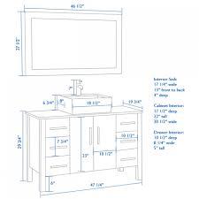 vanity cabinet height 2414 standard height bathroom vanity mirror
