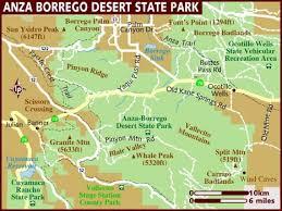 where is anza borrego map of anza borrego desert state park