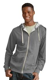 sale unisex heather french terry full zip hoodie vantage