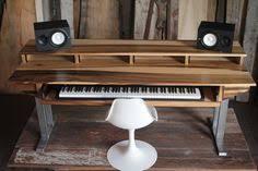 wood studio desk for composer producer engineer recording