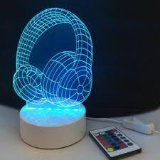 dsu headphone light optical illusion color change 3d visual led