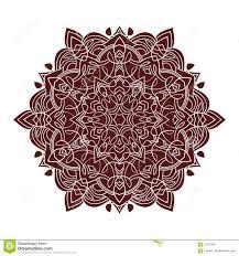 hand drawing zentangle mandala element in marsala color stock
