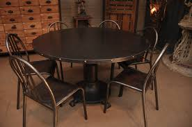 Industrial Decor Dining Tables Reclaimed Wood Round Dining Table Industrial