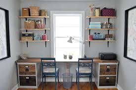 desk with cabinet two person desk built from filing cabinet bases