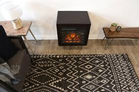 floating wall mount electric fireplace heater eco geo espresso