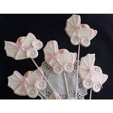 baby shower centerpieces picks baby carriage picks in pink or