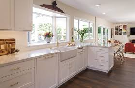 kitchen remodel with white cabinets white kitchen remodel with polished brass accents msk