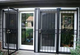 Security Patio Doors Marvelous Patio Sliding Door Security Gate Pictures Ideas House