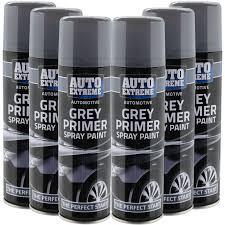 automotive grey primer spray paint 250ml aersol fast dry metal