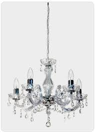 Marie Therese Crystal Chandelier Marie Therese 5 Light Chandelier Chrome Pendants Crystal