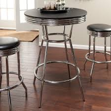 Retro Bar Table Roundhill Furniture Retro Style 3 Chrome Metal