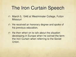 Summary Of Iron Curtain Speech The Iron Curtian