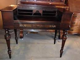 Antique Spinet Desk Antique Real 1920 U0027s Bay View Furniture Company Holland Mi Spindle