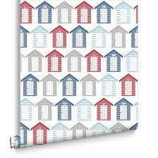 beside the seaside red blue and white wallpaper graham u0026 brown