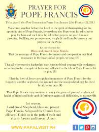 prayer about thanksgiving prayer for pope francis cbcp news