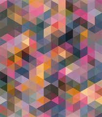 cubism colours triangle coloured patterns catley design