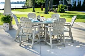 patio ideas round wood outdoor dining table home styles morocco
