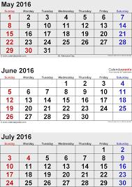 july 2016 calendars for word excel u0026 pdf
