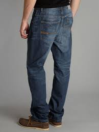 bench anti fit loose jeans in blue for men lyst