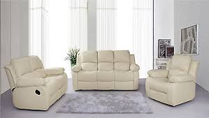 Recliner Sofa Suite New Luxury Valencia Bonded Leather Recliner Sofa Suite 3 2 1
