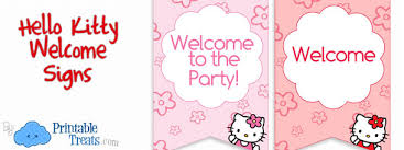 kitty sign birthday parties u2014 printable treats