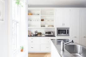 Stainless Steel Kitchen Wall Cabinets Kitchen How To Achieve And Love Open Shelving In Your Kitchen