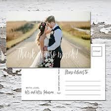 wedding thank you postcard thank you postcard mailable postcard