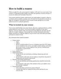 Ways To Make A Resume How To Build A Resume Resume Templates