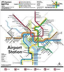 washington subway map metrorail station metropolitan washington airports authority