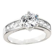 White Gold Cz Wedding Rings by 18k White Gold Plated Engagement Rings