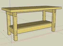 how to build a work table weekend workbench