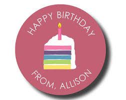 Personalized Birthday Candles Personalized Birthday Sticker Custom Gift Tag Personalised
