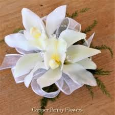 White Orchid Corsage Order Corsages And Boutonnières And Fresh Flowers From Local