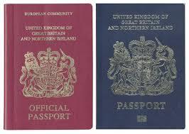 le bureau bordeaux bleu britannique versus bordeaux européen la couleur du passeport