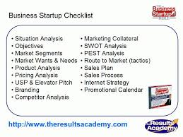 business startup checklist part 9 template marketing plan from