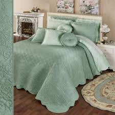 Aqua Bedspread Solid Color Bedspreads Touch Of Class