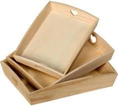 plateaux cuisine plateaux en bois avec coeurs ajourés lot de 3 bois poterie