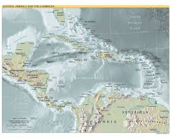 Central America Map And Capitals by Maps Of The Americas Central America Political Map Capitals