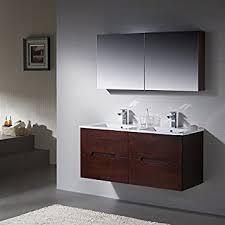 Wall Mount Bathroom Vanities by Amazon Com Wall Mount Bathroom Vanity Elton 48 Matt White Double
