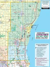 Milwaukee Zip Code Map by Ozaukee County Wisconsin Interurban Bike Trail Trailside