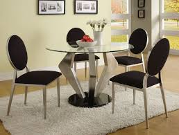 dining room luxurious glass dining table set in grey accent with