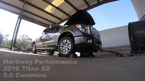 nissan titan performance parts 2016 nissan titan xd 5 0 cummins baseline dyno youtube