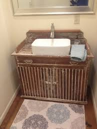 Bathroom Vanities For Vessel Sinks by A Primitive Dry Sink We Made Into A Bathroom Vanity Vessel Sink