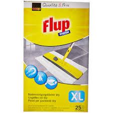 flup xl floor wipes 25 pieces dusters sponges cloths
