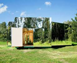 green bureau the archive stunning mirrored studio melts into the landscape