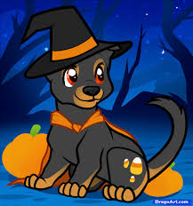 how to draw a halloween dog halloween dog step by step