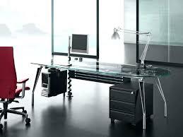 Glass Desk Office Modern Glass Office Atken Me